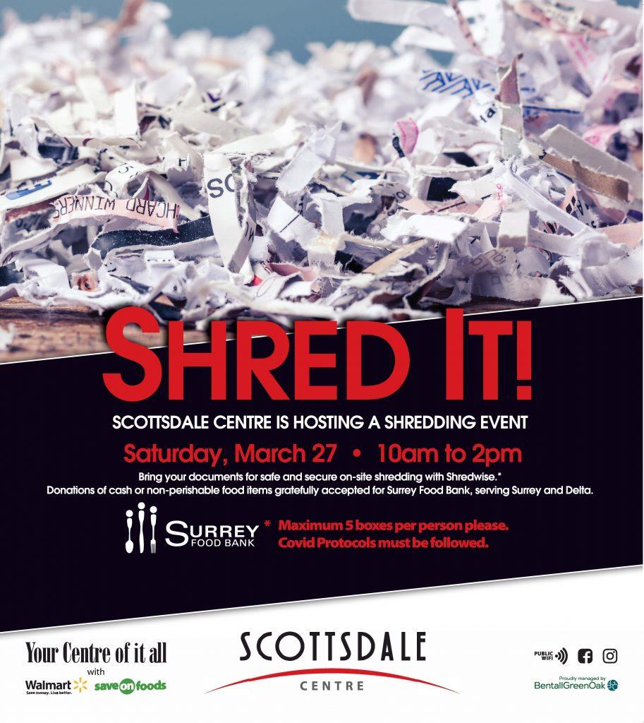 Scottsdale Centre Shredding Event